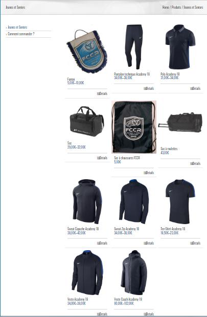 Nouvelle collection Nike dans la boutique FCCR