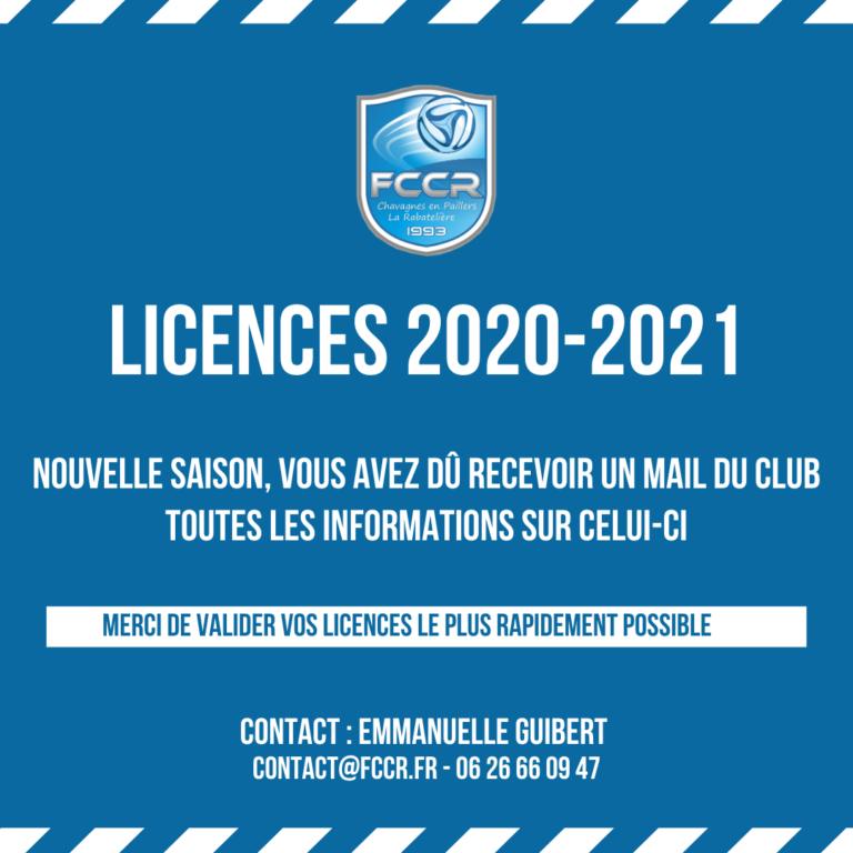 LICENCES 2020-2021