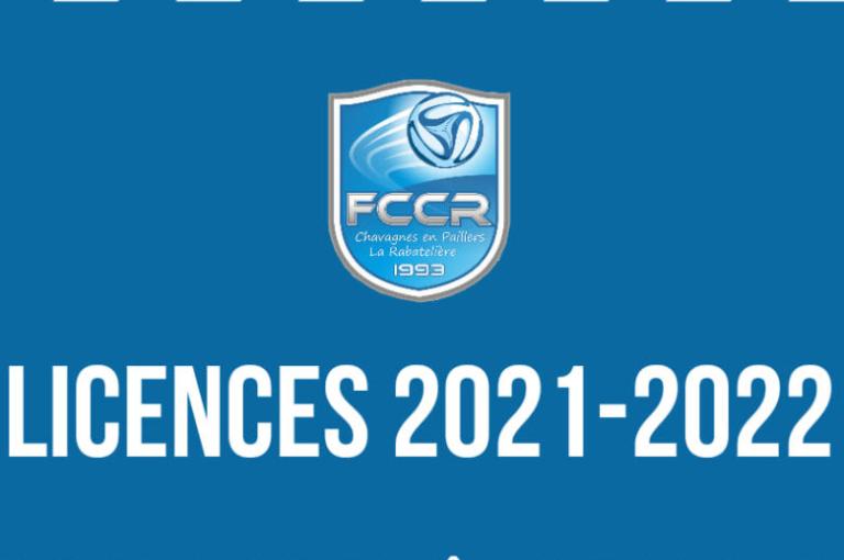LICENCES SAISON 2021/2022